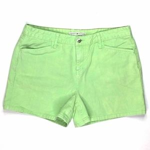 Tommy Hilfiger Women's Shorts Size 11/04 W36 Green